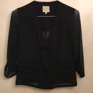 Silence and noise black sheer cardigan